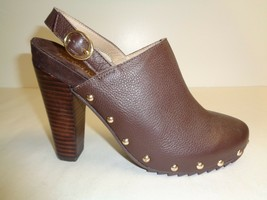 Kenneth Cole Reaction Size 6.5 LOOK AWAY Brown Leather Heels New Womens ... - £79.83 GBP