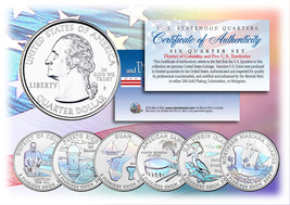 2009 DC & US TERRITORIES Quarters HOLOGRAM ** 6-Coin Set ** STATEHOOD w/... - $13.81
