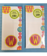 Magnetic List Note Pads Alphabet Initial W Design Lot of 2, 80 Sheets each - $12.95