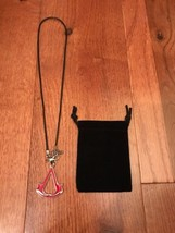 Assassins Creed Red Logo Necklace Pendant Cosplay Hot Rare Brand Limited... - $8.90