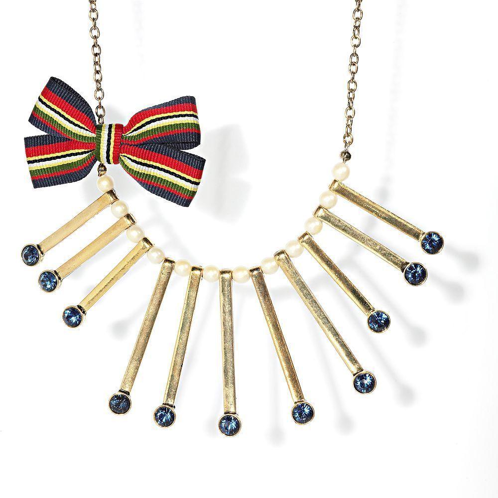 Princess Vera Wang Simulated Crystal Faux Pearl Ribbon Necklace
