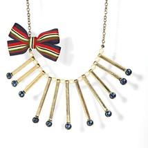 Princess Vera Wang Simulated Crystal Faux Pearl Ribbon Necklace image 1