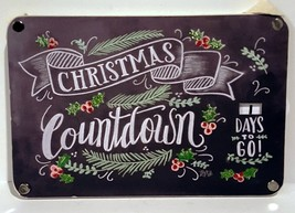 Primitives by Kathy Wood CHRISTMAS COUNTDOWN CHALK STYLE GLITTER DIAL SI... - $8.95