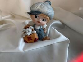 Homco Little Boy with Puppy Dog Figurines #1439 - $14.99