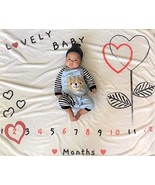 Baby Monthly Milestone Blanket for Boy and Girl,Photography Background P... - $22.50