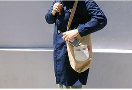Romane Baguette Tote Bag Cotton Canvas Eco reusable Daily Shopper Bag (Beige) image 4