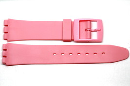 17MM PINK RESIN RUBBER WATCH BAND FITS STANDARD SWATCH WATCH - $7.35