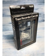 VINTAGE Maxell Tape Cassette Recorder Care Cleaning Kit Complete - $9.89