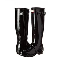 HUNTER Women's Original Tall Gloss Wellies, Black, Sz 8 (uk 6) - $117.81