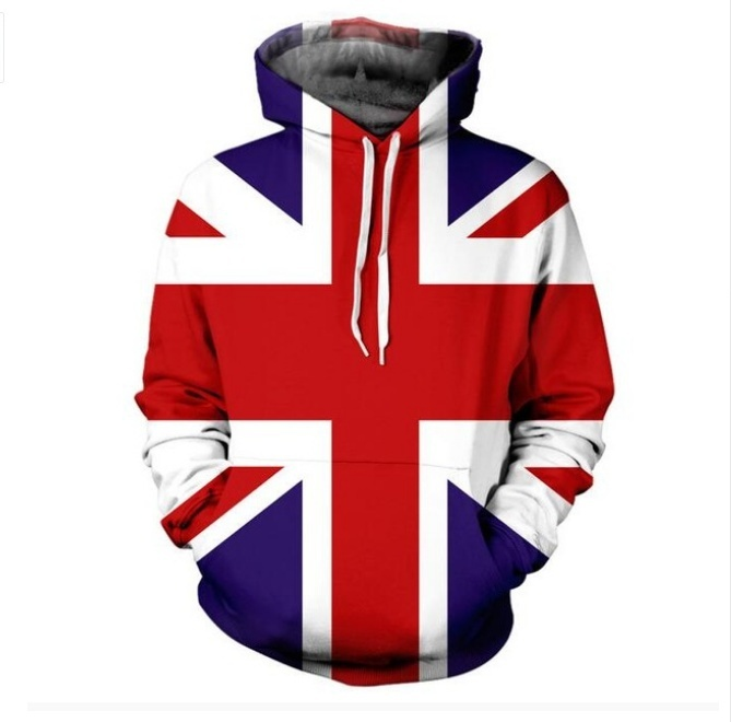 UNION JACK 3d Print HOODIE With Pocket Fashion Clothing Jumper Outfits Tops Hood image 2
