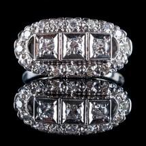 Vintage 1930's 14k White Gold Old European Cut Diamond Ring .52ctw - $1,280.00