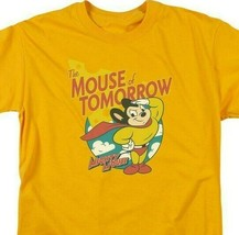 Mighty Mouse The Mouse of Tomorrow retro gold graphic t-shirt CBS960 image 2
