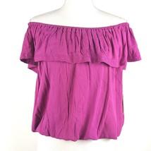 5ed8db65ee1fe Mossimo Women Size Large Purple Off Shoulder Blouse 100% Rayon NWT BOHO -   11.29