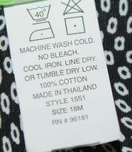 Snopea 3 Piece Outfit Vest Shirt Pants Black White Velour Size 18 Months image 7