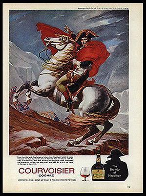 Primary image for NAPOLEON Horseback Jacques-Louis David 1974 Print Ad Courvoisier Cognac