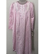 NWT! MISS ELAINE sz L Pink 624 Cameo long sleeve polyester cotton nightgown - $39.59