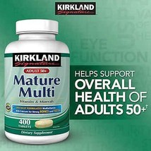 Kirkland Signature Adult 50+ Multivitamin Mature 400 Tablets CHEAP - $24.99