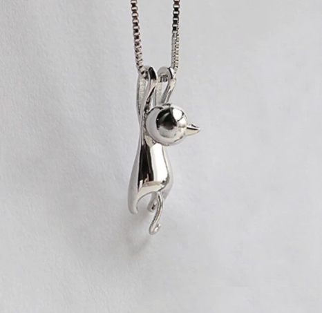 Fashion Cute Cat Necklace & Pendant For Women Gift Silver Gold Color