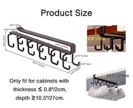 12-Hook Iron Under Cabinet Mug Hanger Brown image 3
