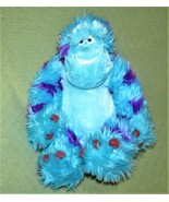 "Disney SULLY Monsters Inc. 18"" Plush SMILING Big Blue Stuffed Animal Pur... - $14.03"