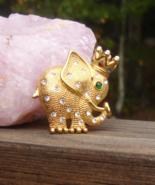 Vintage Trifari 1997 Jeweled Elephant Brooch Limited Edition - $245.00