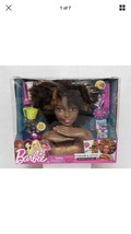 Barbie Color and Style Deluxe Styling Head Curly Black Hair African Amer... - $60.78