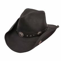 Stetson Roxbury Shapeable Leather Cowboy Western Hat Medium Black - $149.99
