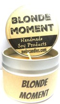 BLONDE MOMENT 4oz All Natural Soy Candle Tin (Take It Any Where) Great F... - €5,53 EUR