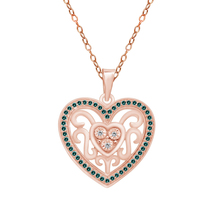 """.42 Ct Yellow Citrine 14k Rose Gold Over Heart Pendant W/ 18"""" Free Chain - $76.21"""