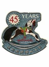 Hallmark 2018 Keepsake 45 Years Anniversary Cloisonné Enamel Pin Rocking... - $9.89
