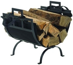 Pleasant Hearth 22 in. Decorative Firewood Rack with Removable Canvas Tote - $46.79