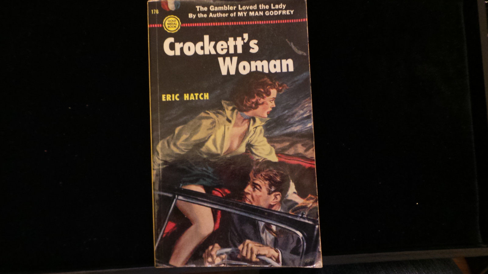 Vintage Paperback Crockett's Woman by Eric Hatch 1952 Gold Medal 176 VG+