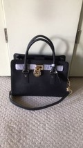 NWT MICHAEL KORS HAMILTON LARGE EW SATCHEL HANDBAG Black $ 328.00 - $157.41