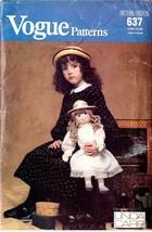 Vintage 1988 Doll & Clothes Vogue Pattern 637 ~ UNCUT - $12.00