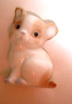 Vintage Tan and White Porcelian Kitten Cat Figurine  - $14.95