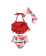 Swimsuit girls Summer Baby Clothes Girl Cute Toddler Kid Baby Girls Tass... - £15.33 GBP