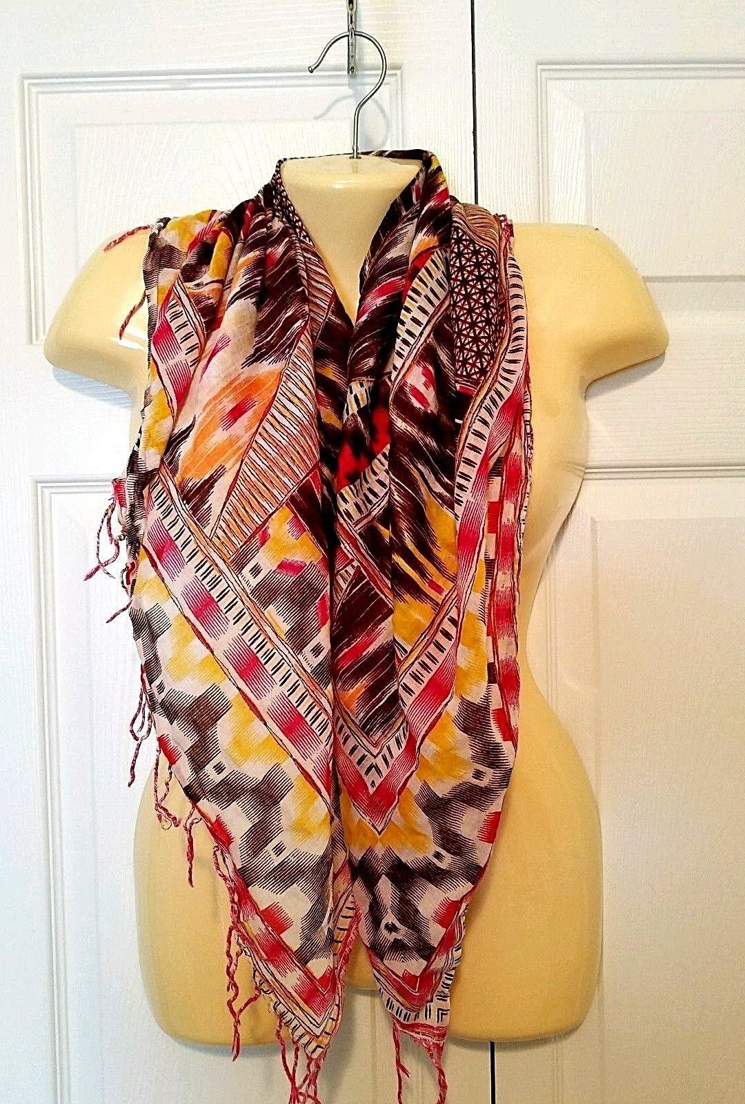 Green Yellow and Red Sheer Chiffon Scarves Rasta Colors Fashion Scarf Set