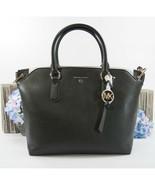 Michael Kors Elson Black Pebbled Leather Large Convertible Satchel Bag NWT - $196.52