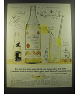 1964 Bacardi Rum Ad - For the first time since 11:00 a.m. September 3rd ... - $14.99