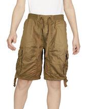 Boys Elastic Waist Drawstring Multi Pocket Cotton Toddler Kids Cargo Shorts image 6