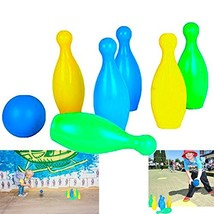 Dazzling Toys 6 Pins Plastic Bowling Set Kids Indoor Outdoor Sports Game - $17.65