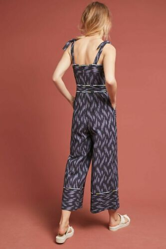 New Anthropologie Ikat Jumpsuit by ett:twa,  Retail  $158  Blue Size 4 image 2