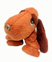 """Vintage Drooper Dog Plush RARE Button Nose Copper Brown Stuffed Animal Toy 10""""  - $99.00"""