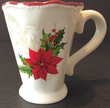 Ganz Poinsettia Christmas Mug Coffee Cup - $9.89