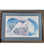 """1981 Hand Signed G.E. Mullan """"Woman with 3 Vases"""" Art Poster Print - $399.99"""