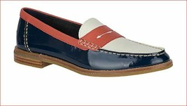new SPERRY Top-sider women shoes STS83739 leather navy white brown sz 12 - $47.20