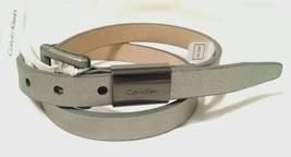 Nwt $42 Calvin Klein Gunmetal Silver Belt S New - $18.39