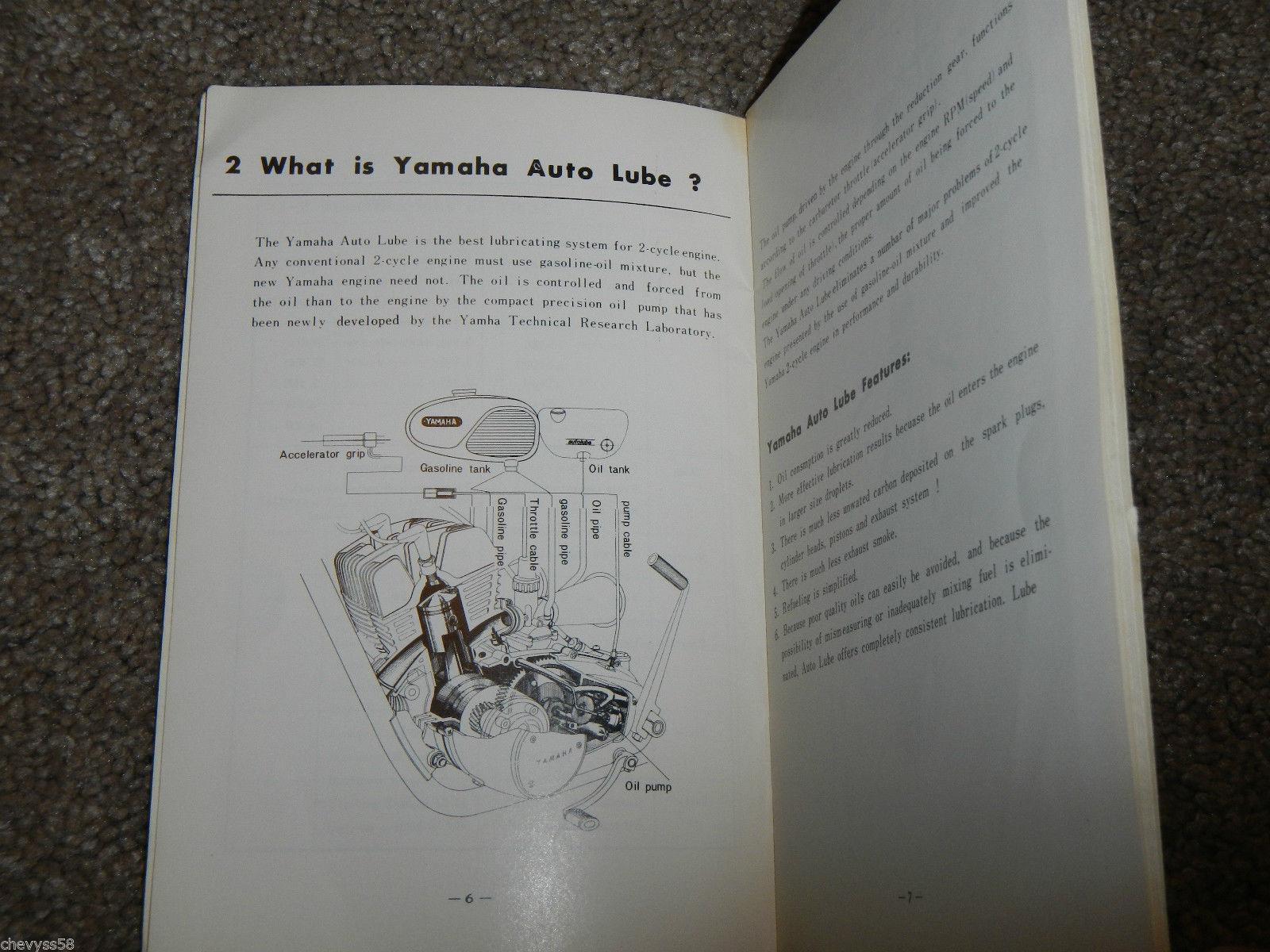 1967 67 yamaha ym2-c 305 ym2c big bear rider riders rider's manual