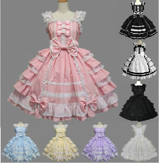 Primary image for Lolita Sweet Babydoll Nobel Princess Lace Party Dresses Costumes Any Size