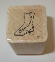 Victorian Boot Rubber Stamp Close To My Heart Wood Mounted  - $3.46